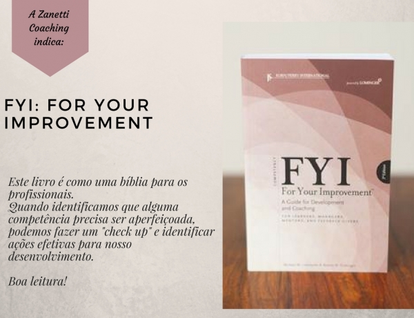 Livro FYI: For Your Improvement de Michael M. Lombardo & Robert W. Eichinger